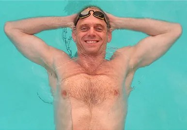 """Ambrose """"Rowdy"""" Gaines was one of the world's fastest swimmers during years with the Auburn University swim team during the late 1970s and early 1980s. He was a gold medalist during the 1984 Summer Olympic Games in Los Angeles, and has remained with the sport as a publicist and pool-side television correspondent. (From Encyclopedia of Alabama, photograph by Bernard Troncale, The Birmingham News)"""