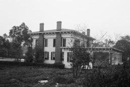 Rear view of the First White House of the Confederacy, 1934. (Photograph by W.N. Manning, HABS, Library of Congress, Prints and Photographs Division)