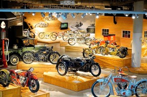 The motorcycles at Barber Vintage Motorsports Museum are not only beautiful to look at, but restoration specialists ensure they are able to run on the track at the Barber Vintage Motorsports Park. (Mark Sandlin / Alabama NewsCenter)