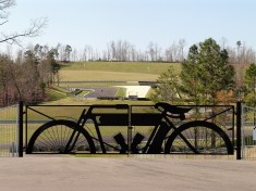 The Indian Motorcycle gate. (Barber Motorsports Park and Museum)