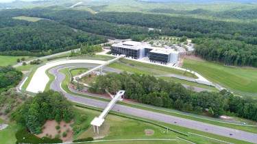 The new pedestrian bridges give fans a new view of the park. (Barber Motorsports Park and Museum)