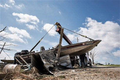 Alabama Power crews have been working as quickly and safely as possible to restore power to areas affected by tornadoes and storms on March 19. (Christopher Jones / Alabama NewsCenter)