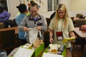 APSO volunteers delivered Cheeriodicals to Ronald McDonald House. (Karim Shamshi-Basha/Alabama NewsCenter)