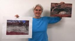 Mimi Boston, co-founder of Paperworkers Local, says the artists' cooperative has helped her work progress. (Karim Shamsi-Basha/Alabama NewsCenter)