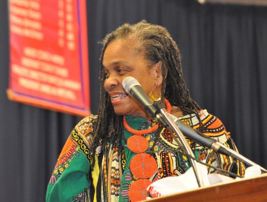 Faya Rose Toure speaks as part of the Faith & Politics Institute Pilgrimage. (Stephonia Taylor McLinn/The Birmingham Times)