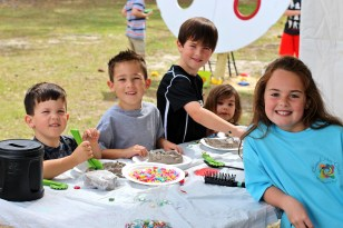 Children can dig their fingers into clay and bright paint, enjoy games, watch live demonstrations and take home their own works of art. (Contributed)