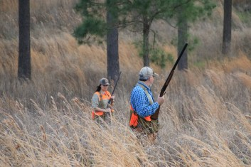 Emily Snyder and Steve Hickoff enjoy a hunt in the Alabama outdoors. (contributed)