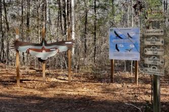 Raptor area at Kreher Nature Preserve. (Copyright © Lew Scharpf)