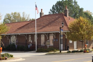 Fayette's 1913 railroad depot is now a museum. (City of Fayette)