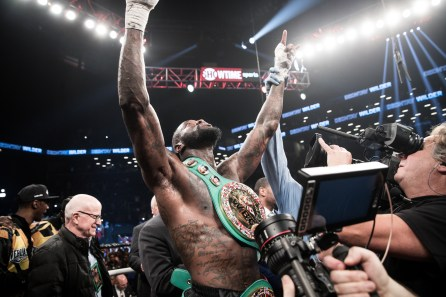 Deontay Wilder successfully defended his WBC title by defeating Luis Ortiz with a TKO. (Amanda Westcott/Showtime)