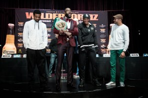 Deontay Wilder and Luis Ortiz will box in New York on March 3 in a bout to be televised on Showtime. (Amanda Westcott/Showtime)
