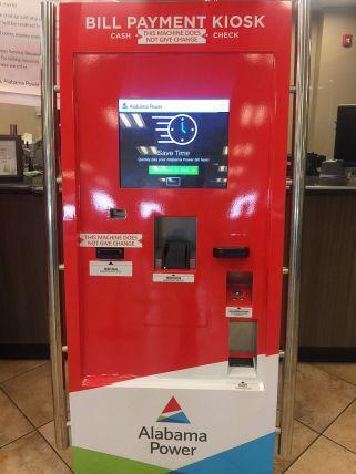 Kiosk inside the Eastern Jefferson Business Office. (Keisa Sharpe/Alabama NewsCenter)