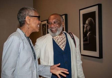 Photographer Chester Higgins Jr., right, has a new exhibit at the Birmingham Civil Rights Institute showing modern portraits of the civil rights foot soldiers of the '50s and '60s. (Billy Brown)