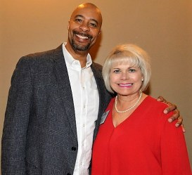 """Scott Vowels, supplier diversity manager for Apple and author of """"Hacking Supplier Diversity,"""" was the keynote speaker. (contributed)"""