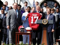 The Alabama Crimson Tide visited President Donald Trump at the White House in recognition of the football team's national championship. (Alabama Athletics)