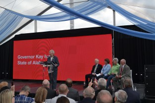 Gov. Kay Ivey speaks at the groundbreaking ceremony for the Google data center in Bridgeport. (contributed)