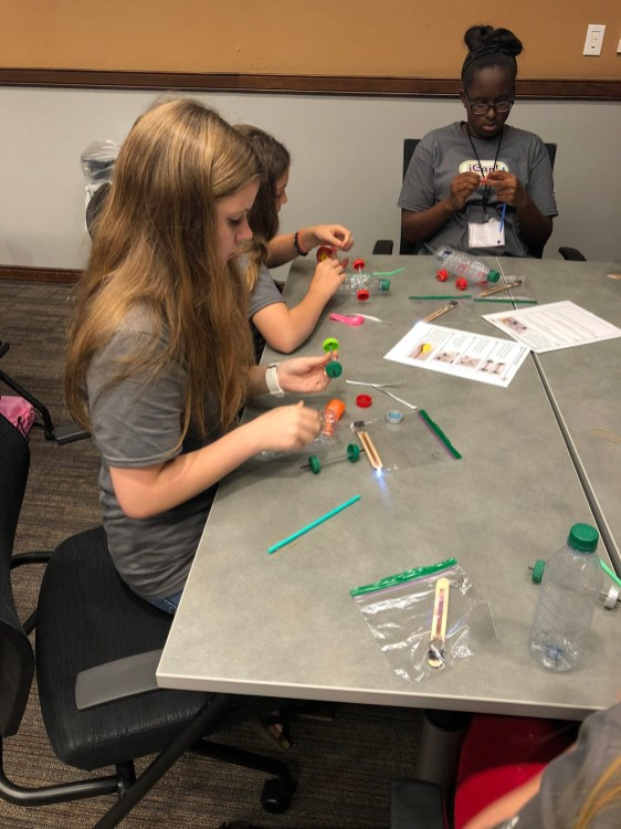 The iCan conference exposed the girls who attended to three distinct forms of engineering through interactive design exercises. (contributed)