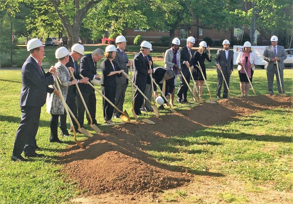 Officials broke ground on the $25 million Center for the Arts at the University of Montevallo. (contributed)