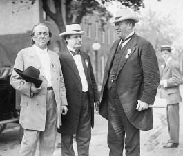 Sen. James Kimble Vardaman, James Thomas Heflin and Ollie James, 1912. (Bain News Service, Library of Congress, Prints and Photographs Division)