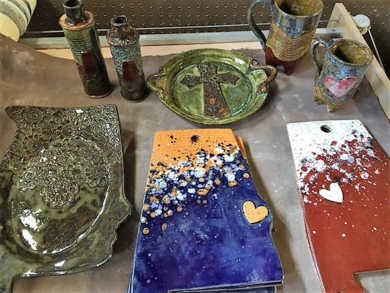 Blankenship Farms Pottery is constantly adding new designs and techniques to pieces. Items in the shape of Alabama are among artist Donnalee Blankenship's specialty. (contributed)