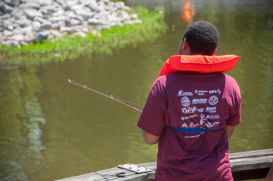 Exceptional Anglers gives students the pleasure of fishing in a beautiful spot on a well-stocked lake. (Billy Brown/Alabama NewsCenter)