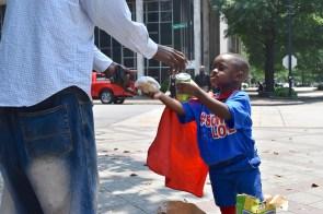 Austin Perine is a hero to the hungry. (Karim Shamsi-Basha/Alabama NewsCenter)