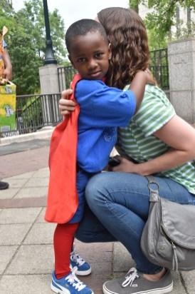 Austin gets a lot of hugs. (Karim Shamsi-Basha/Alabama NewsCenter)