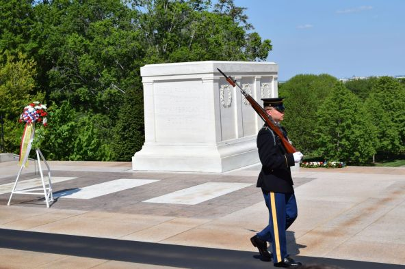 Every 30 minutes, 24 hours a day, 365 days a year, the guard is changed at the Tomb of the Unknown Soldier. (Donna Cope/Alabama NewsCenter)