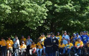 Western Alabama veterans enjoyed seeing the changing of the guard. (Donna Cope/Alabama NewsCenter)
