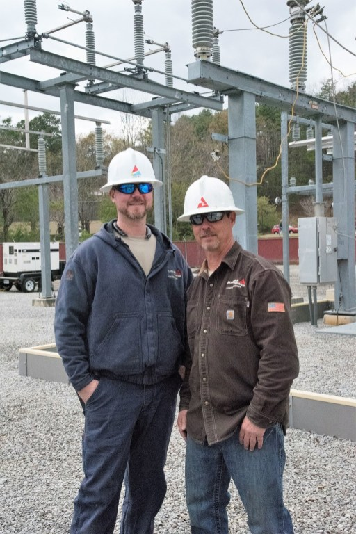 Alabama Power linemen look out for one another's safety. (Brittany Faush/Alabama NewsCenter)