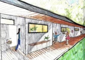 Conceptual drawings of Horseshoe Farm Homes. (Rural Studio)