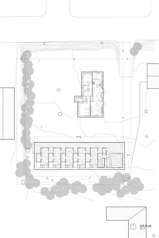 Architectural plans for Horseshoe Farm Homes. (Rural Studio)