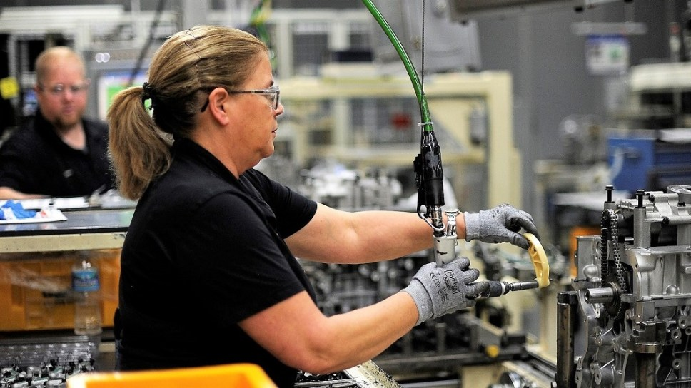 Hyundai employees build engines at Hyundai Motor Manufacturing Alabama in Montgomery. The company this year announced a $388 million investment to prepare the plant to build next-generation engines. (contributed)