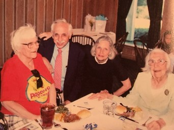 Harper Lee with Wayne and Dartie Flynt and Lee's sister Alice at a celebration of Alice Lee's 100th birthday. (Courtesy of Patrick and Tonja Carter and the Lee family)