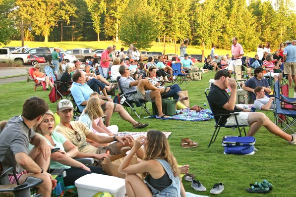 You will fit right in with your chairs, coolers and blankets on the Town Green. (Contributed)