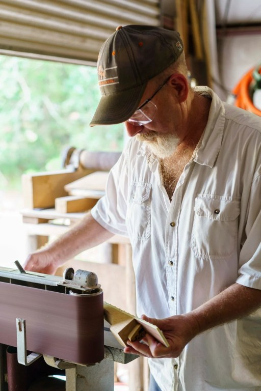 Fritz accepts work from everyday customers as well as famous guitarists. Either way, he doesn't need to advertise. (Mark Sandlin/Alabama NewsCenter)