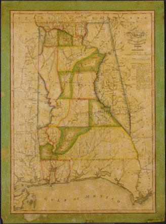 Map of Alabama, published in 1820. (John Melish, Library of Congress, Geography and Map Division)