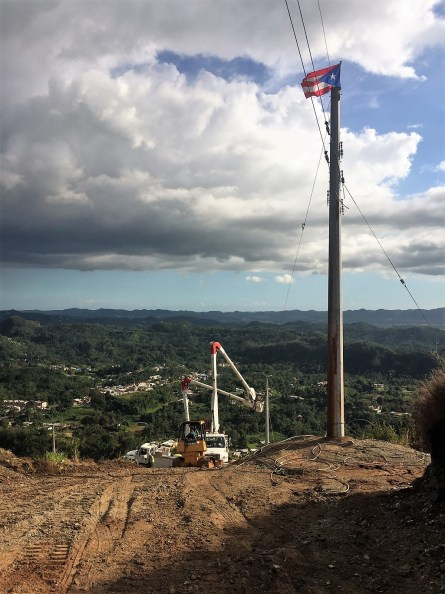 Line crews work to restore power in Puerto Rico. (file)