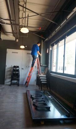 Final days of set-up at Blueprint on 3rd June 7. (Erin Harney/ Alabama NewsCenter)