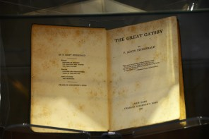"A first edition of F. Scott Fitzgerald's most famous work, ""The Great Gatsby."" (Karim Shamsi-Basha/Alabama NewsCenter)"