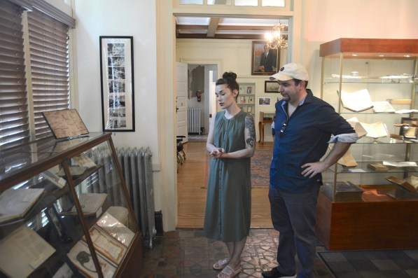 """""""I absolutely love being here,"""" says Sarah Powell, director of the F. Scott and Zelda Fitzgerald Museum in Montgomery. (Karim Shamsi-Basha/Alabama NewsCenter)"""