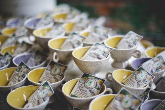 Wedding teacups by Lana Hobbs. (Thrive Clay Studio)