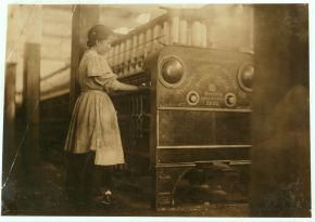 Young girl working in Anniston Yarn Mills, Anniston, November 1910. (Lewis Wickes Hines, Library of Congress Prints and Photographs Division)
