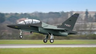 Italy-based Leonardo is hoping to build its T-100 jet trainer at a Tuskegee factory that would create hundreds of jobs. (Leonardo)