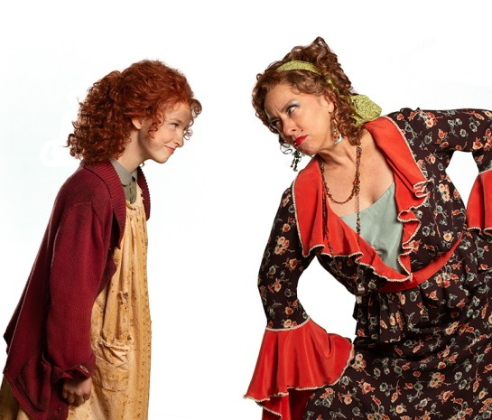 Vivian Poe as Annie and Alicia Irving as Miss Hannigan. (Contributed)