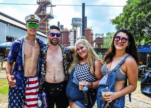 The weather wasn't very hospitable, but the crowds stuck it out Sunday at Sloss Fest 2018 in Birmingham. (Billy Brown / Alabama NewsCenter)
