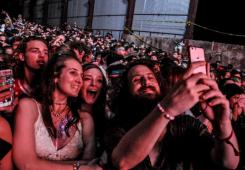 Hippie Sabotage selfies were a real thing at Sloss Fest 2018 in Birmingham. (Billy Brown / Alabama NewsCenter)