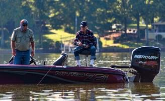 Veteran Ralph Mack (right) enjoys a fishing trip. (Bernard Troncale/Shorelines)
