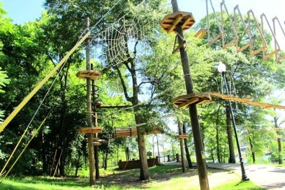 Whitewater Alabama in Phenix City complements its watery fun with a treetop experience. (contributed)