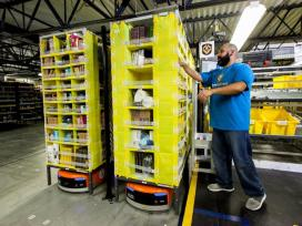 Amazon's $320 million advanced robotics fulfillment center in Bessemer will employ a minimum of 1,500 full-time employees and will be similar to this one the company operates in another state. (Amazon)